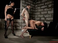 Slaves of pitiless femdom sex Mistresses reveal obedience art!